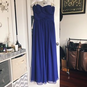 JS Boutique Ruched Chiffon Gown